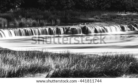 Venta Rapid waterfall, the widest waterfall in Europe, Kuldiga, Latvia.