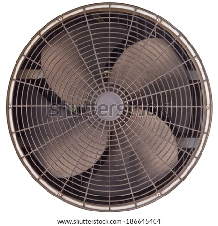 Ventilation fan of air conditioner - stock photo