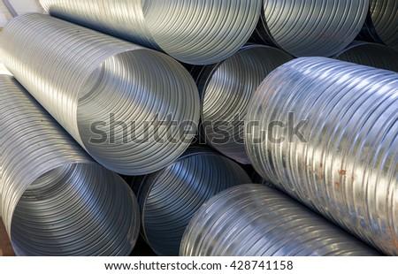 Ventilation pipes. Ventilation. Ventilation system. - stock photo