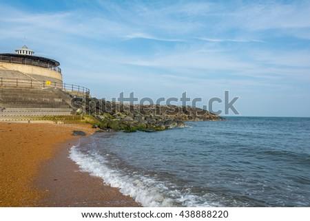 Ventnor Beach Isle of Wight - stock photo