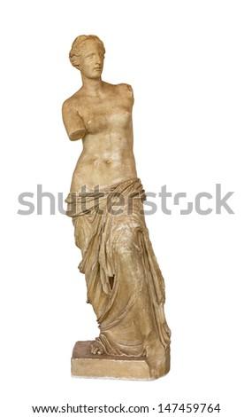 Venus de Milo statue, isolated - stock photo