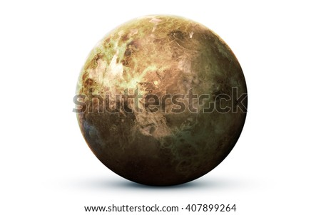 Venus - High resolution 3D images presents planets of the solar system. This image elements furnished by NASA - stock photo