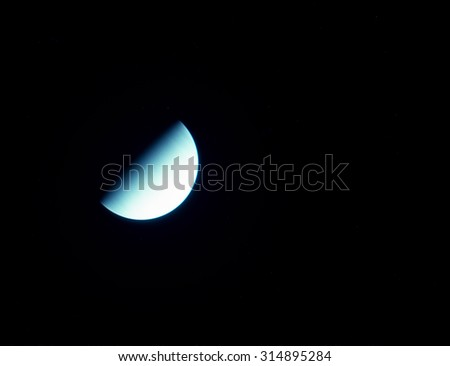 Venus is the second planet from the Sun, orbiting it every 224.7 Earth days. It has no natural satellite. Elements of this image furnished by NASA - stock photo