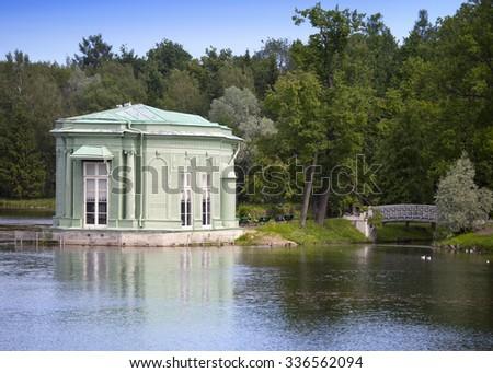 Venus pavilion in park, 1793 year. Gatchina. Petersburg. Russia. - stock photo
