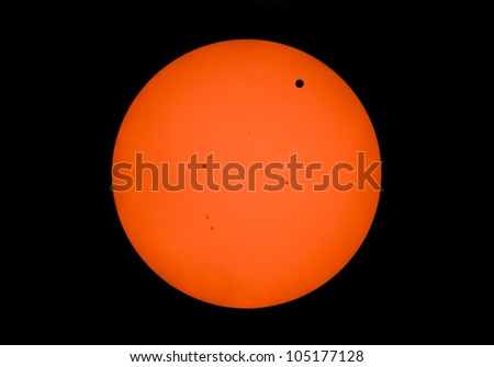 Venus Transit on June 5 2012 from Charlotte NC - stock photo