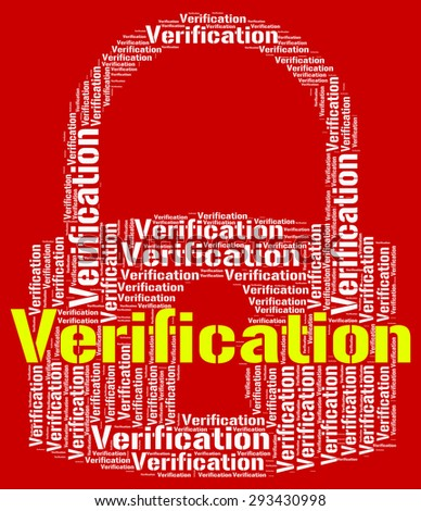 Verification Lock Meaning Authenticity Guaranteed And Text