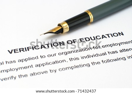 Verification od education