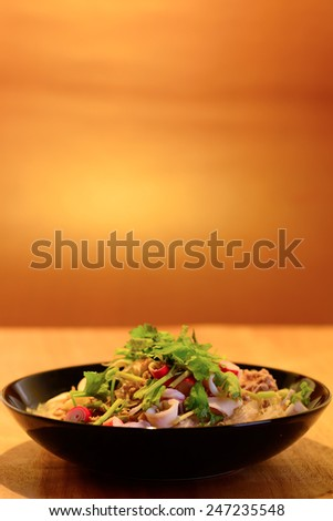 vermicelli salad,Thailand food noodle salad - stock photo