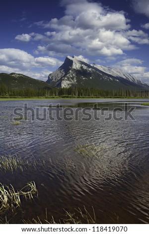 Vermilion Lake Vermilion Lake, AB, Canada - stock photo