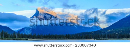 Vermillion Lake, Banff, Alberta, Canada - stock photo