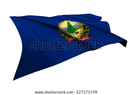 Vermont flag - USA state flags collection no_4  - stock photo