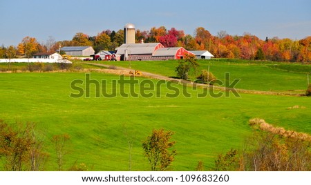 Vermont foliage, USA - stock photo