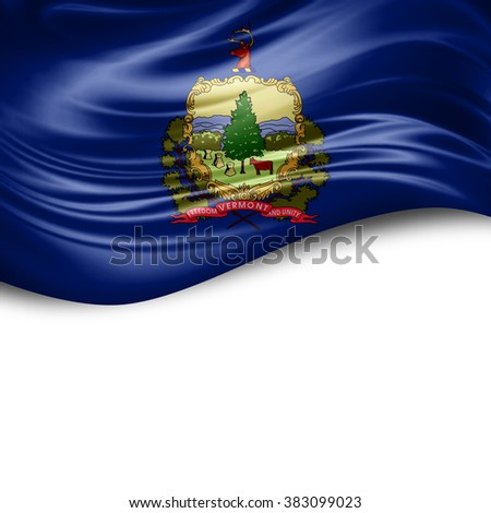 Vermont of silk with copyspace for your text or images and white background