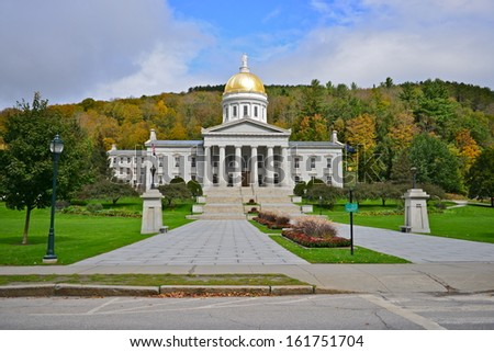 Vermont State Capital Building in Montpelier, Vermont, USA - stock photo
