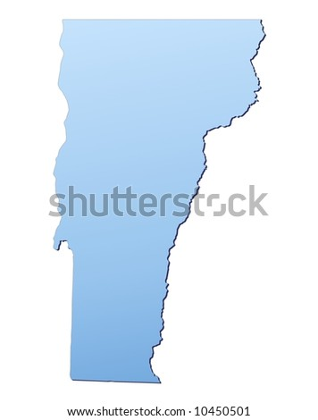 Vermont Usa Map Filled With Light Blue Gradient High Resolution Mercator Projection