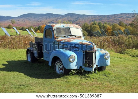 Vermont, USA - October 12, 2016: 1939 Universal Pickup track at Cider Mill Farm on October 12, 2016.