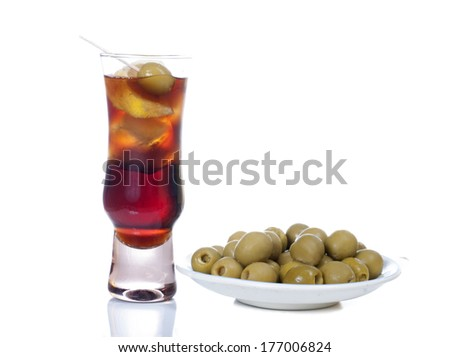 Vermouth and aperitif - stock photo