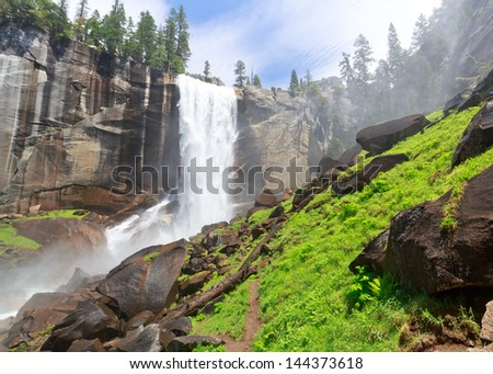 Vernal Fall, Yosemite National Park - stock photo
