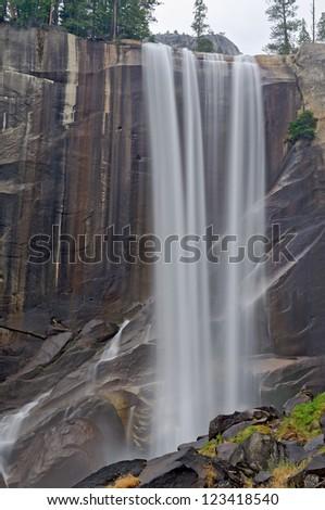 Vernal Falls at Yosemite National Park - stock photo