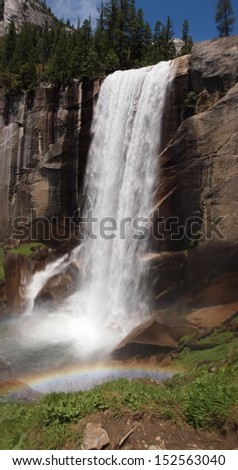 Vernal Falls, Yosemite National Park - stock photo