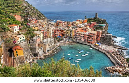 Vernazza, the Most Beautiful Village in the Cinque Terre? - stock photo