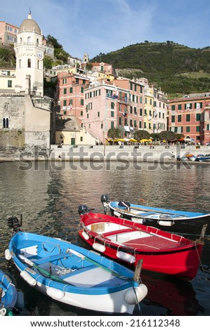 Vernazza village - Cinque Terre in Italy - stock photo