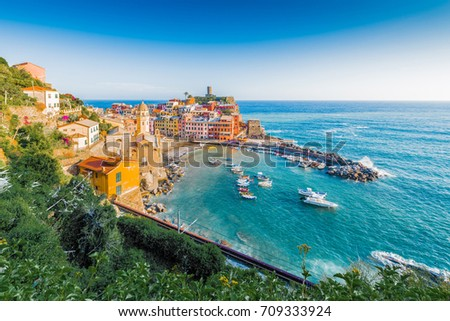 Vernazza village within Cinque Terre in Liguria Region, Northern Italy.