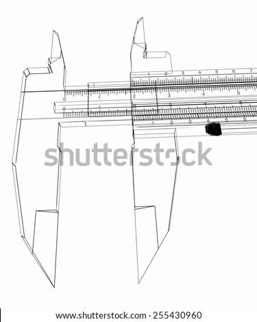Vernier caliper - stock photo