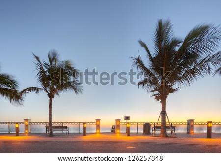 Vero Beach at Sunrise - stock photo