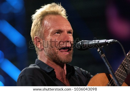 "Verona Italy 09/20/2003, Arena : Sting in concert during the ""Festivalbar 2003"" musical event."