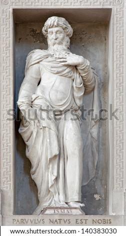 VERONA - JANUARY 27: Statue of prophet Isaiah in San Bernardino church on January 27, 2013 in Verona, Italy. - stock photo
