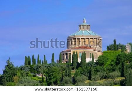 Verona Santuario della Madonna di Lourdes  - stock photo