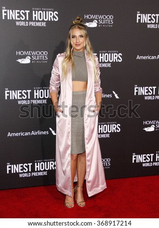 Veronica Dunne at the World premiere of 'The Finest Hours' held at the TCL Chinese Theatre in Hollywood, USA on January 25, 2016.
