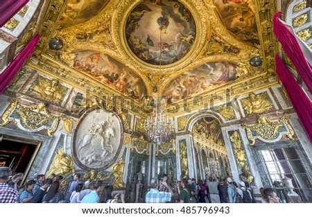 VERSAILLES,FRANCE-JUNE 2016: in the King's Chamber of the palace