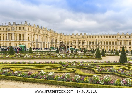 Versailles Palace. Palace Versailles was a royal chateau. It was added to UNESCO list of World Heritage Sites. Versailles, France. - stock photo