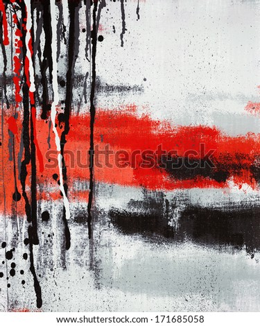Vertical abstract art oil painting on canvas - stock photo