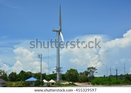 Vertical Axis Wind Turbine for Electric
