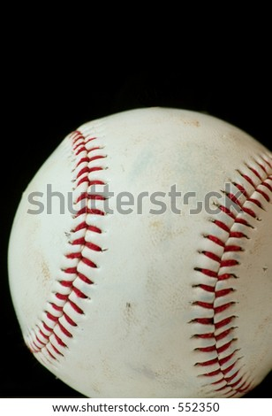 Vertical Baseball Macro with black background.