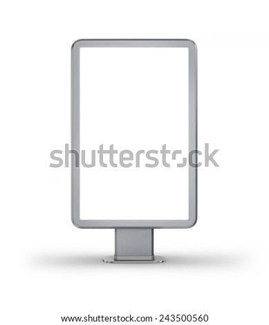 Vertical billboard. - stock photo