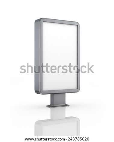 Vertical billboard. Illustration on white background. - stock photo