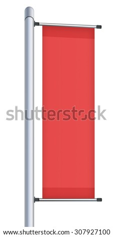 Vertical billboard isolated on white background. Highly detailed illustration.