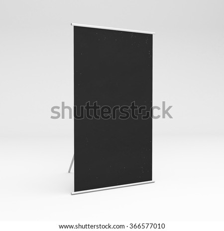 vertical black stand in white background