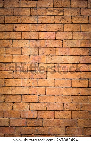 vertical brick wall texture background - stock photo