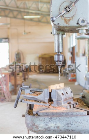 Vertical drilling machine  chuck