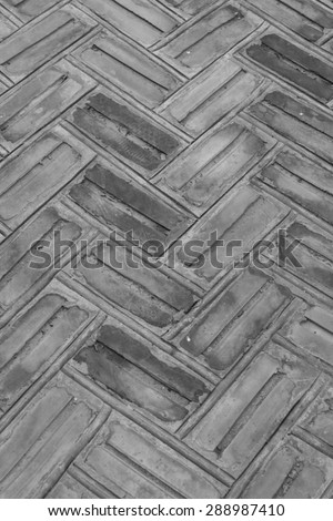 Vertical flat stacked stone - Stock Image - stock photo