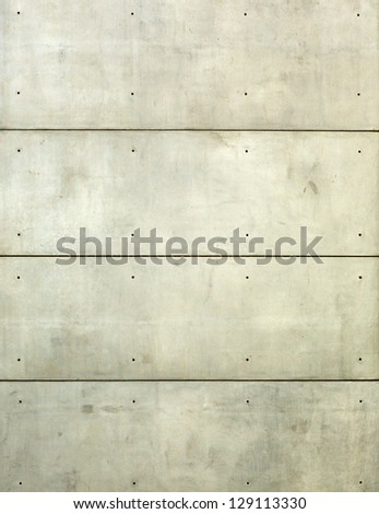 Vertical plain concrete wall with horizontal lines - stock photo