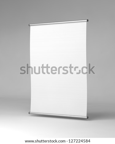Vertical Square Flipchart on Gray Background. - stock photo