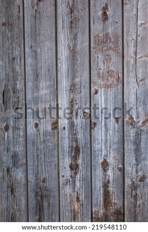 Vertical texture of old wooden boards brown