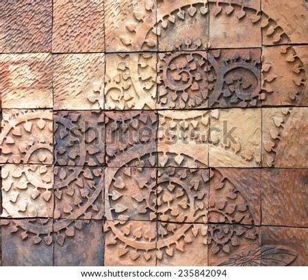 Vertical view of a wall made of bricks. Traditional material. Grunge background of brick wall texture - stock photo