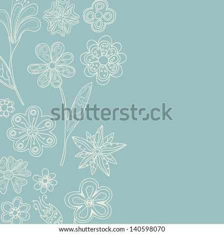 Vertical vintage background. Floral pattern